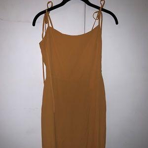 REFORMATION Mustard Mid-length dress